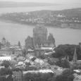 上空から見たケベックシティー